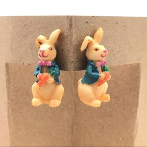 Handmade Jewelry Easter Bunny Post Earrings Gifts